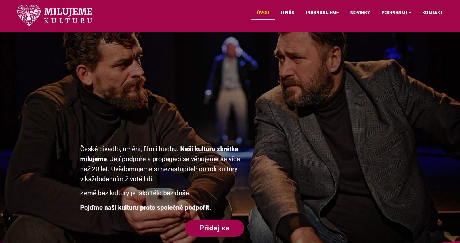 Spolek KULT spustil začátkem roku 2020 nový web