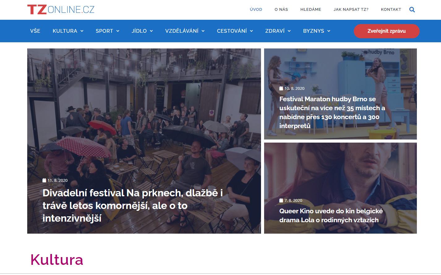 TZonline.cz – tiskové zprávy online – je nový počin spolku KULT